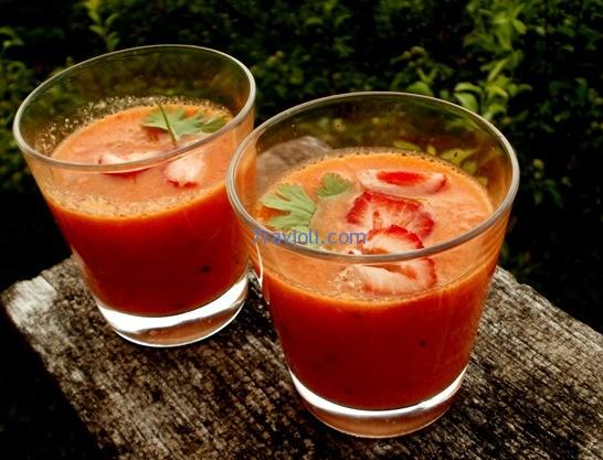 pomidorų sriuba gaspačo