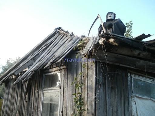 Žagarė, kaliausė ant stogo
