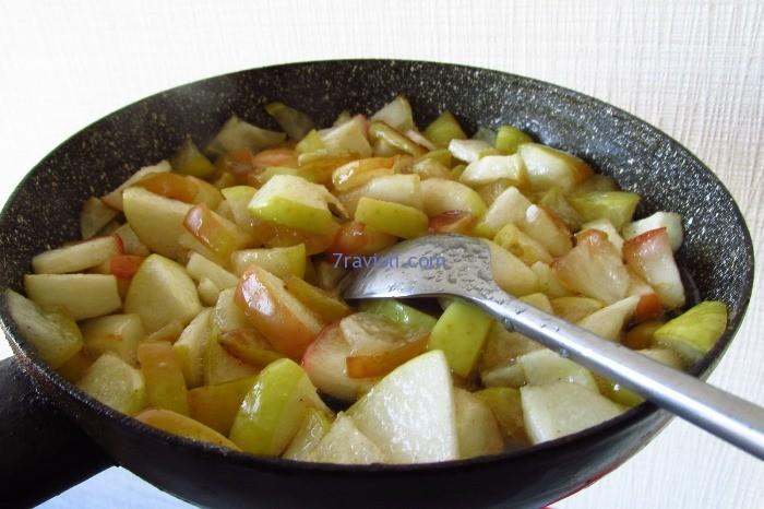 kepti obuoliai