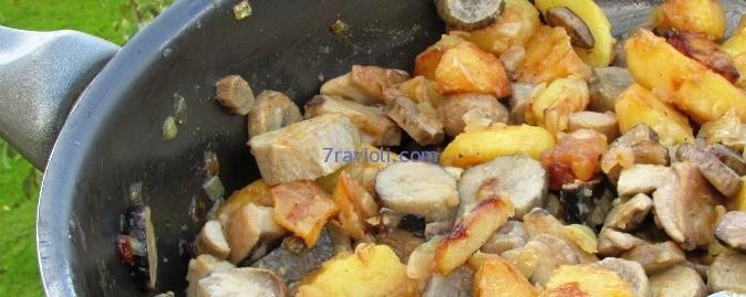 baravykai su bulvėm