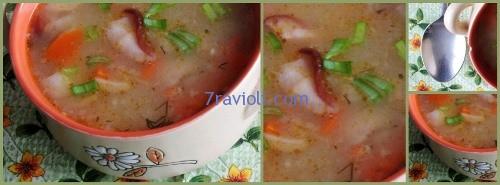 grybu sriuba su pupelemis