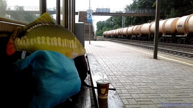 Puodelis kavos Kaišiadorių perone